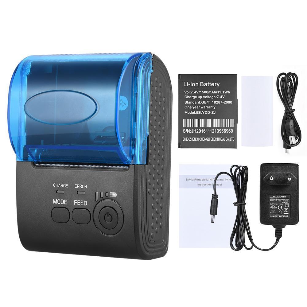 Mini Zj 5805dd мобильный термопринтер для чеков Usb 58 мм лента