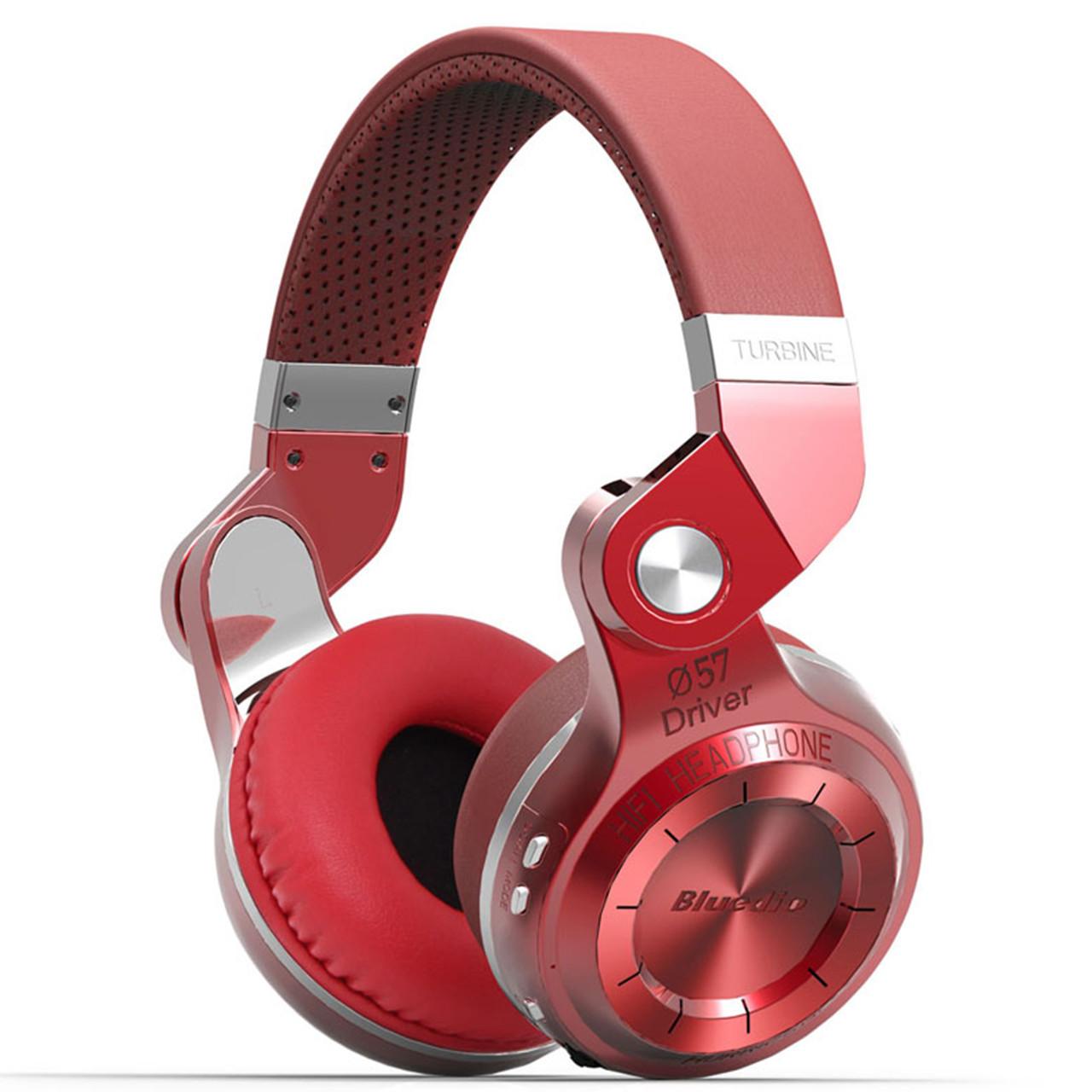 Bluetooth гарнитура Bluedio T2 Plus Red трансформер беспроводная разъем microSD ФМ радио наушники с микрофоном