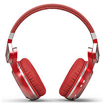 Bluetooth гарнитура Bluedio T2 Plus Red трансформер беспроводная разъем microSD ФМ радио наушники с микрофоном, фото 2