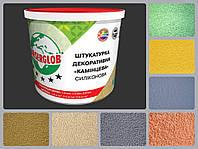 """Штукатурка силиконовая Anserglob """"Камешковая"""" (зерно 1,5 мм; 2 мм) 25 кг, фото 1"""