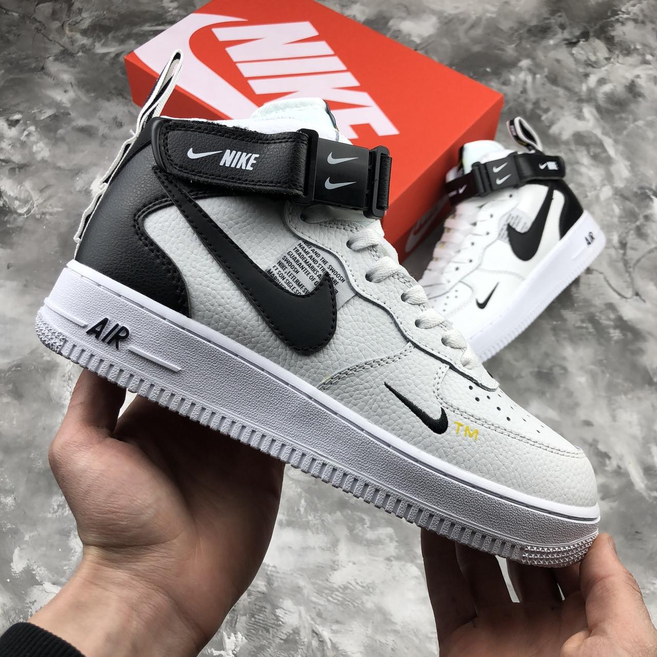 dobra jakość niższa cena z szalona cena Nike Air Force 1 Mid 07 L.V.8 Utility Pack White | кроссовки мужские;  белые; кожаные