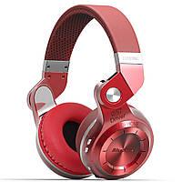 ➤Bluetooth гарнитура Bluedio T2 Plus Red стереофоническая беспроводная поддержка карт microSD с микрофоном