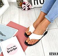 Женские кожаные босоножки белого цвета Comfort, фото 1