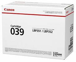 Картридж Canon 039 LBP351/352 Black