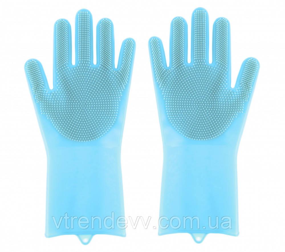 Перчатки для мытья посуды Magic brush