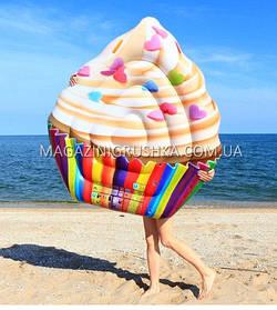 Матрас надувной Intex Кекс (Cupcake) арт.58770. Отлично подходит для отдыха на море, в бассейне