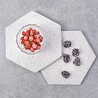 Комплект для сервировки 4 шт 13,3 см из кварцевого камня  Галетте -06743