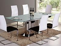 Стол обеденный стеклянный ROSARIO Signal белый
