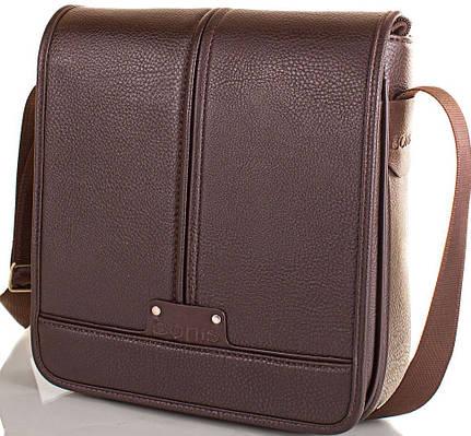 Сумка-почтальонка из эко кожи BONIS SHIM8098-brown коричневый