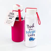 """Стеклянная бутылка  для воды и напитков """"Рыбка"""" (450 мл), фото 1"""