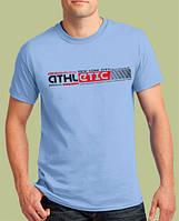 0013-TSRA-150-AQ    Мужская футболка «ATHLETIC NY» Голубая