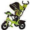 Велосипед Lamborghini VIP с фарой и музыкой надувные колеса зеленый