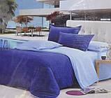 """Комплект постельного белья ТМ """"Ловец снов"""", Однотонный синий, фото 3"""