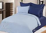 """Комплект постельного белья ТМ """"Ловец снов"""", Однотонный синий, фото 4"""