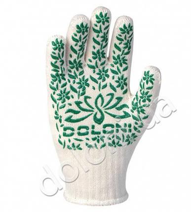 Перчатки защитные с ПВХ- рисунком из хлопка и полиэстера. DOLONI, фото 2