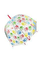 """Зонтик """"Отпечатки"""" X-brella D=70см прозрачный, разноцветный"""
