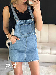 Женский джинсовый сарафан юбка