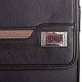 Мужская сумка-почтальонка из качественного кожзама BONIS (БОНИС) SHIL8101-black черный, фото 7