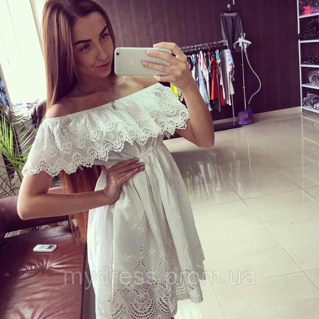 b5a586b9ff3 Летнее хлопковое платье прошва - MY DRESS SHOP стильная одежда от лучших  производителей в Харькове
