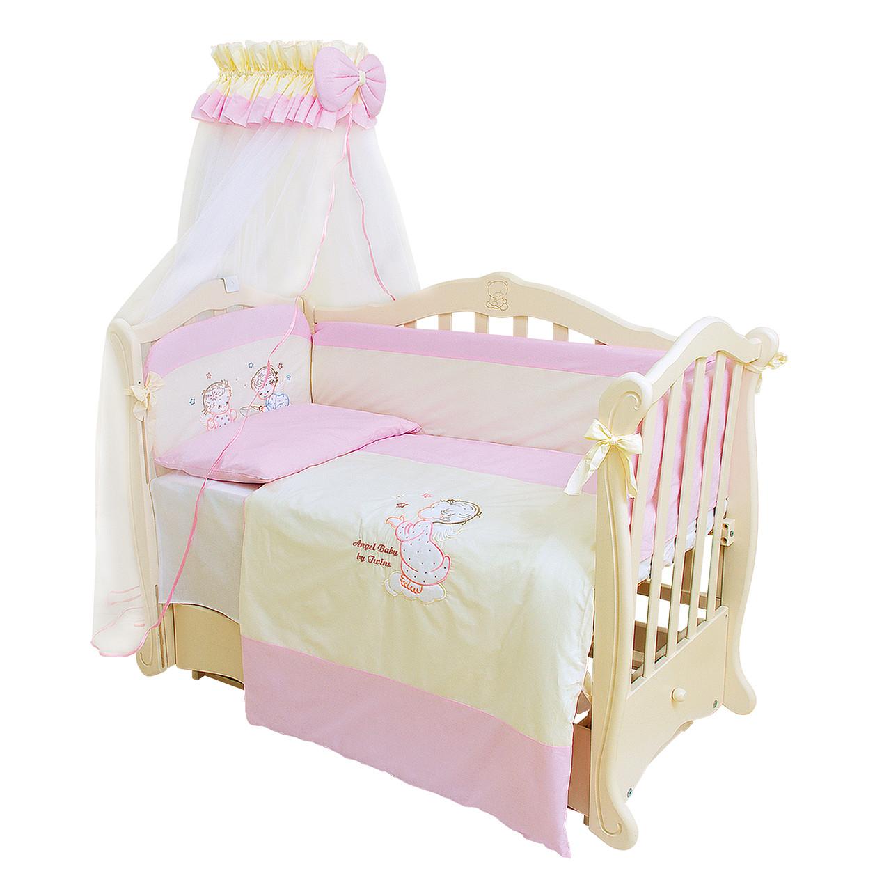 Детская постель Twins Evolution А-007 Ангелочки (7 элементов) + БЕСПЛАТНАЯ  ДОСТАВКА - ae9866f7cb3e9