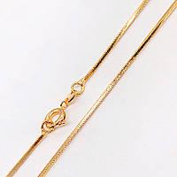 Цепочка Xuping 45 см х 1 мм Ювелирный шнур с гранями медицинское золото позолота 18К А/В 3-0102