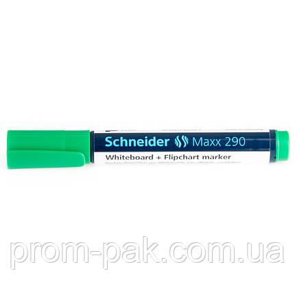 Для досок и флипчартов маркер  Schneider MAXX 290 зеленый, фото 2