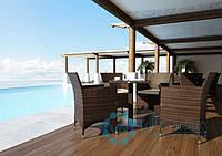 Стол кофейный Quadro Modern 80 см, искусственный ротанг, техноротанг, стол для террасы