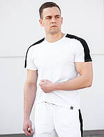 Мужская футболка классическая beZet Base white '19