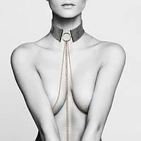 Украшение на грудь из металла Desir Metallique Collar Black