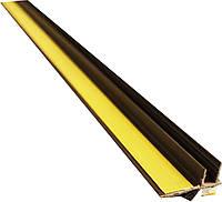 Профіль віконний примикання коричневий з манжетою без сітки JS Tech, фото 1