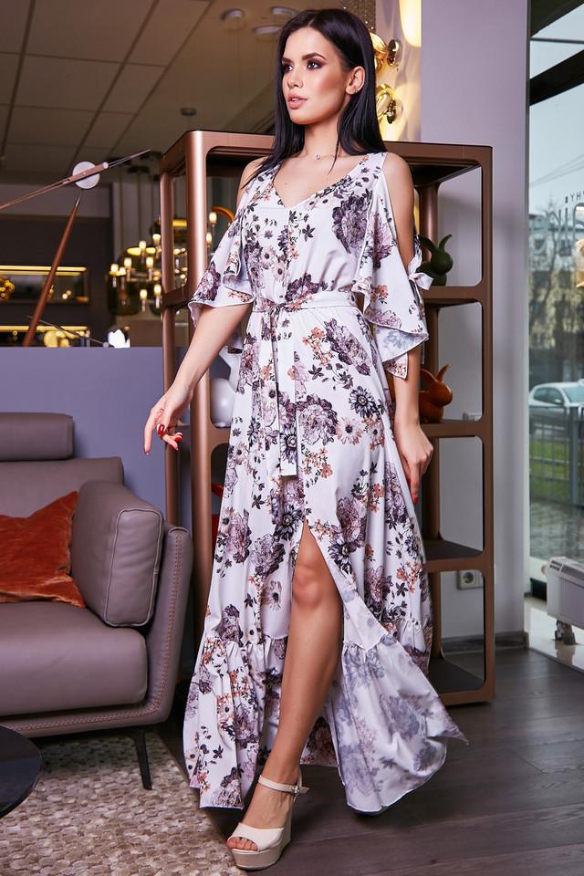 0ccf22be3b20db Жіноче літнє плаття, біле, з квітковим принтом, молодіжне, довге, пляжне,