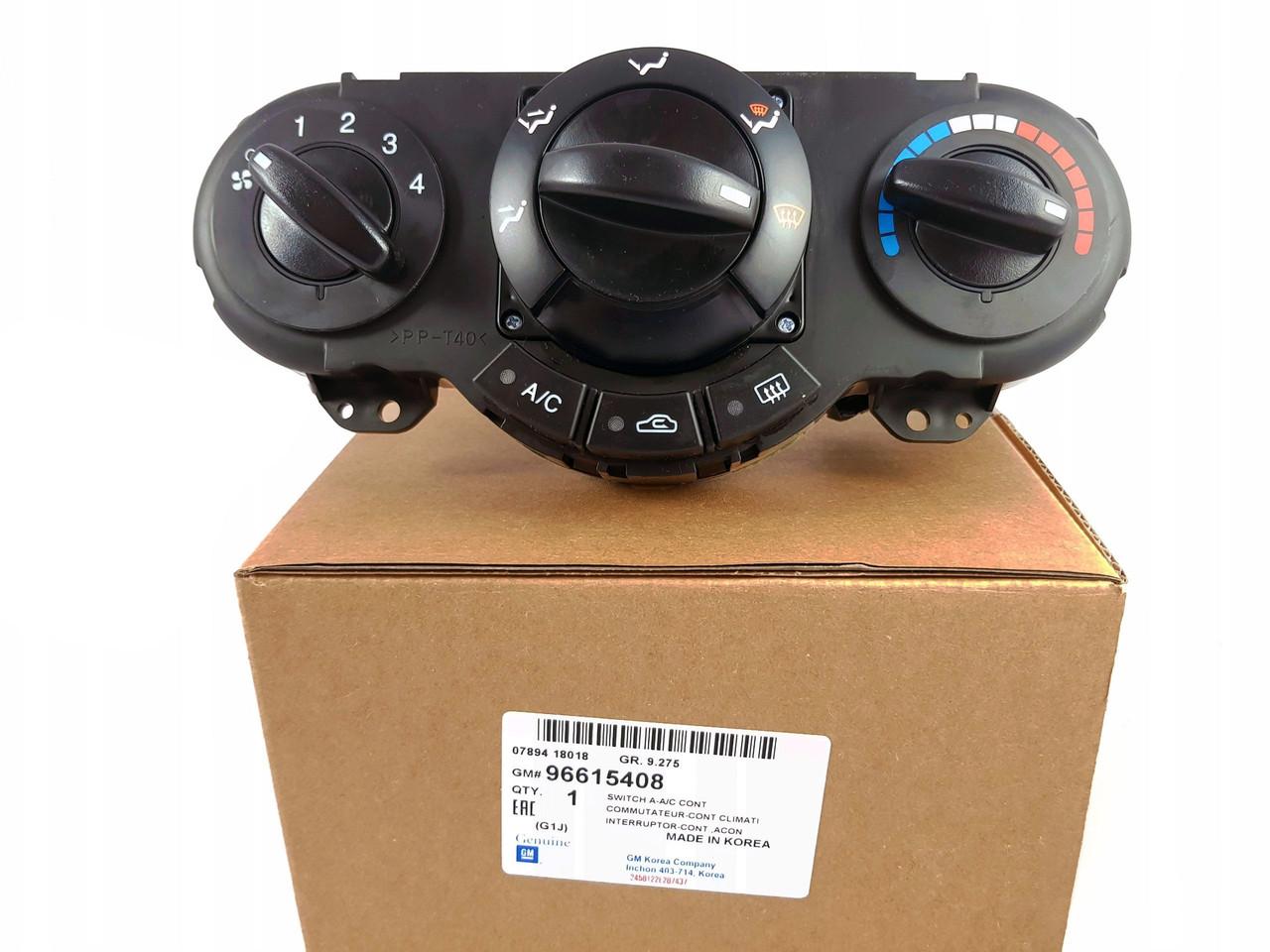 Переключатель печки Лачетти с кондиционером (Блок управления печкой) GM, 96615408