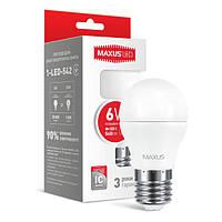 LED лампа MAXUS G45 6W 4100К 220V E27  (1-LED-542)