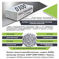 Блоки полистиролбетонные, D300.