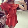 Льняное платье с воланами, фото 2
