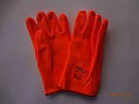 Перчатки оранжевые ПВХ флуорисцентные МБС Safety Group SG-013 короткие, 30 см (упаковка 6 пар)