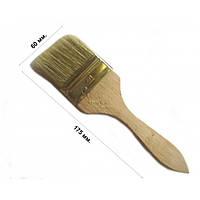 Кисть флейцевая тонкая 60 мм, плоская (набор 10 шт)