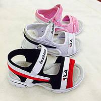 Детские сандалии на липучках для мальчиков и девочек оптом Размеры 31-36 микс, фото 1