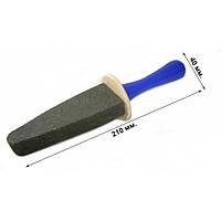 Камень абразивный для заточки кос, ножей и пил, с ручкой (упаковка 10 шт)