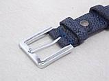 Женский кожаный узкий ремень синий, фото 4