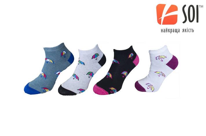 Шкарпетки спортивні жіночі SOI 23-25 р. (36-40) * короткі, фото 2