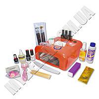 Стартовый набор для покрытия гель-лаком Tertio (3 цветных гель-лака+дизайн+УФ лампа 36W)