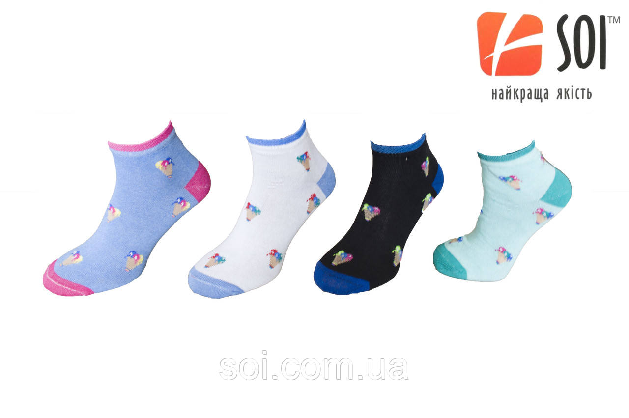 Шкарпетки спортивні жіночі SOI 23-25 р. (36-40) * 635 / принт