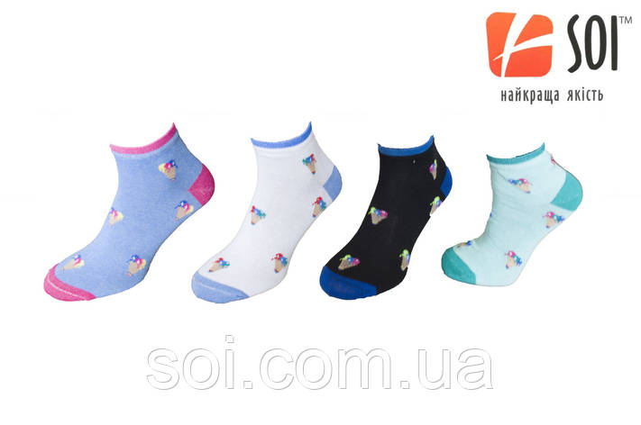 Носки спортивные женские SOI 23-25 г. (36-40) * 635 / принт, фото 2