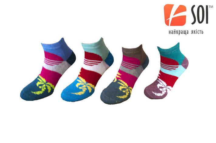 Шкарпетки спортивні жіночі SOI 23-25 р. (36-40) * 635 / пальми, фото 2