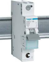 Автоматический выключатель In=16А, 1п, С, 6 kA, 1м Hager (MC116A)