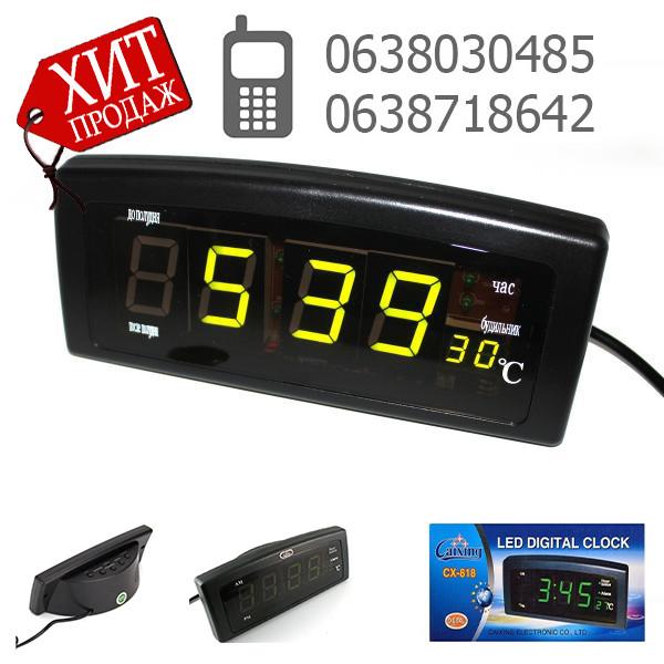 Часы электронные CX 818  green