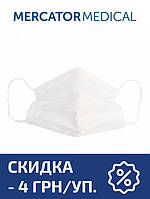 Маска медицинская Mercator Medical Opero на резинках трехслойная (50 шт в уп.) белая