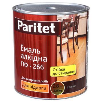 Эмаль ПФ-266 желто-коричневая 0,9 кг Paritet