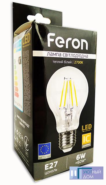 Світлодіодна лампа Feron LB-57 6W 2700K E27